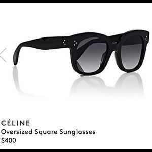 Celine New Audrey Oversized Square Sunglasses